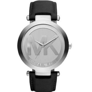 New authentic MK silver tone logo watch